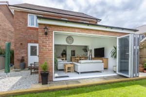 Solid Roofed Extension with Bifolds Holsworthy
