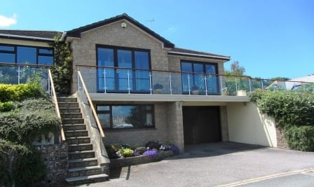 Glass balustrade Cornwall