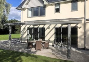 alfresco-grey glass roof Cornwall